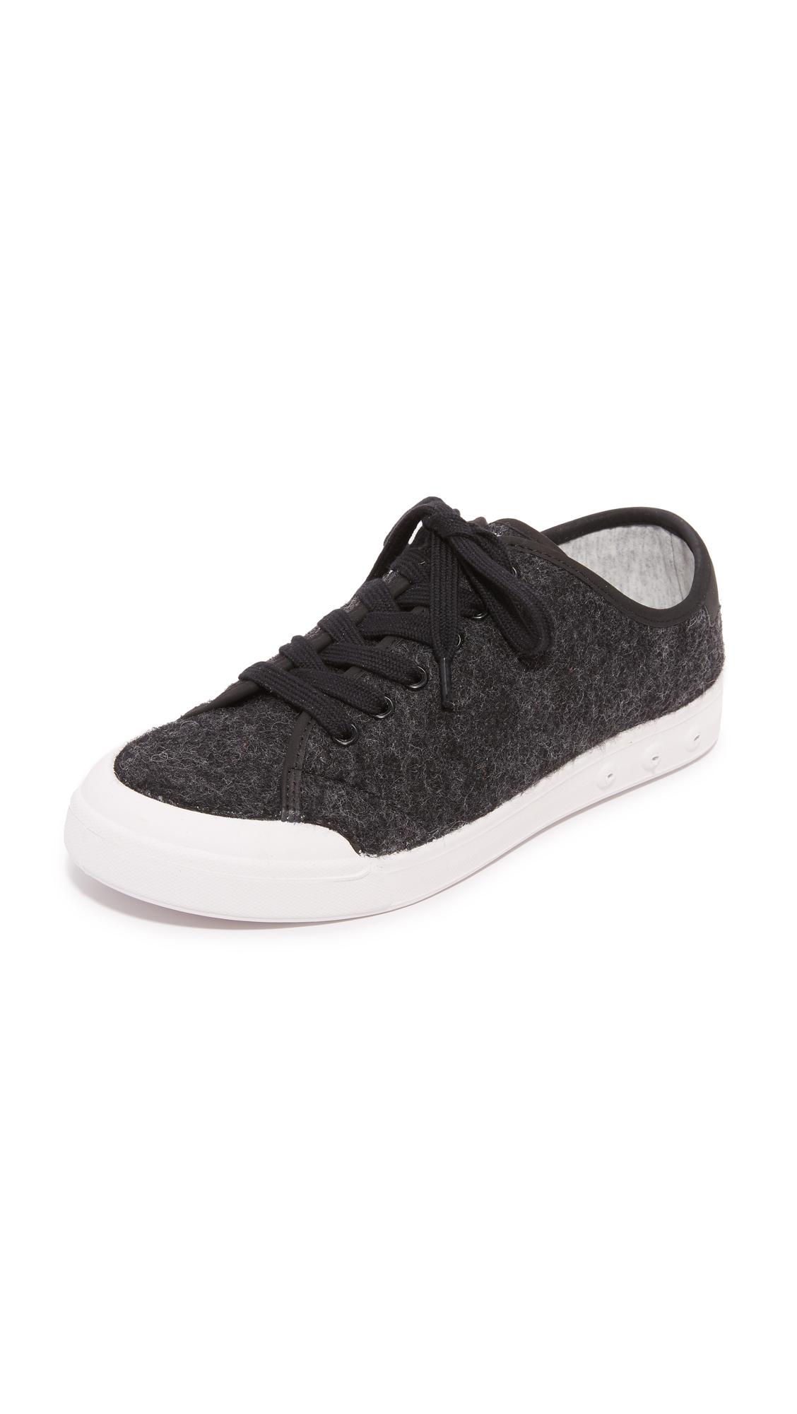 rag bone female rag bone standard issue lace up sneakers black