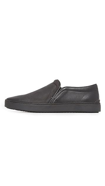 Rag & Bone Kent Matte Leather Slip On Sneakers