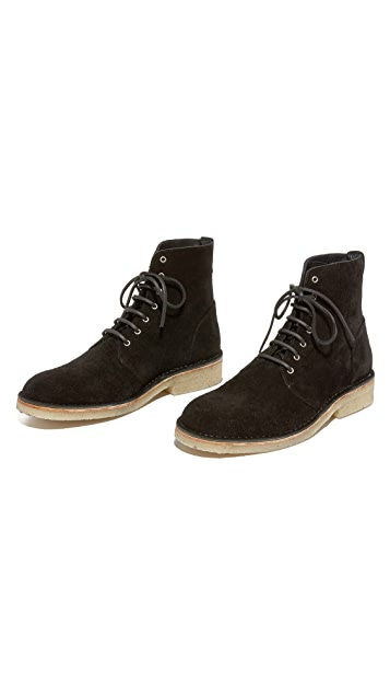 Rag & Bone Military Suede Lace Boots