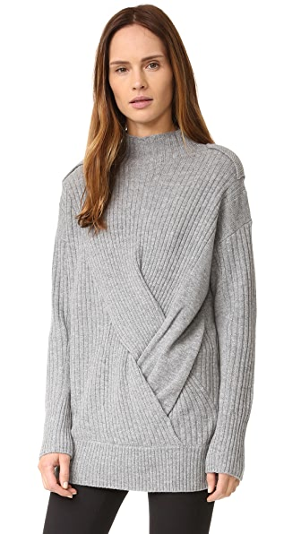 Rag & Bone Dale Turtleneck Sweater - Light Grey