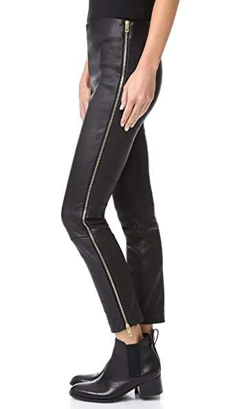 Rag & Bone Chatel Leather Pants - Black