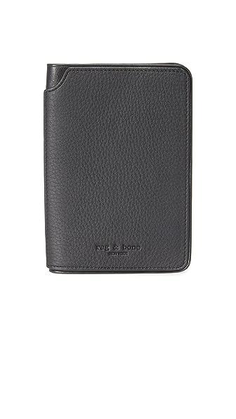Rag & Bone Passport Cover In Black