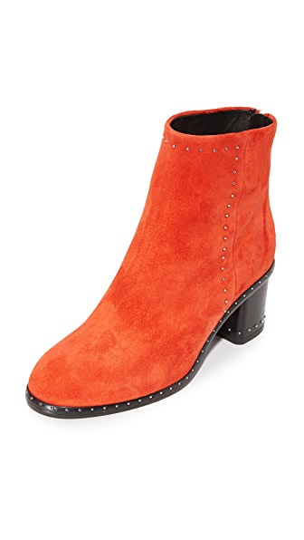 Rag & Bone Willow Stud Booties - Red