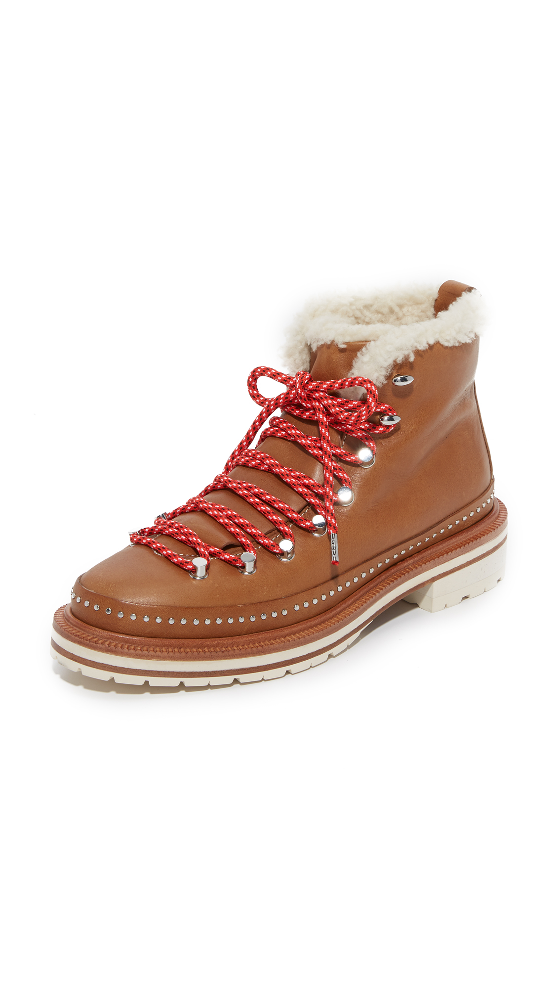 rag bone female rag bone compass shearling booties tan