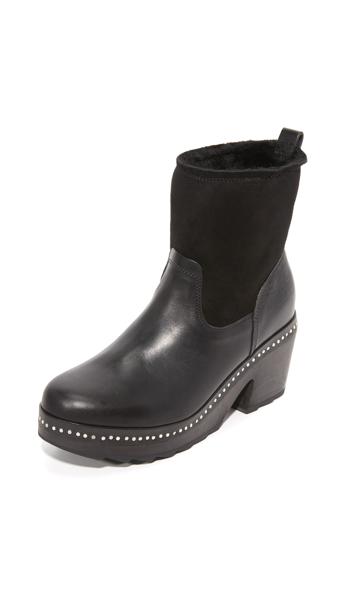 rag bone female rag bone nelson clog booties black