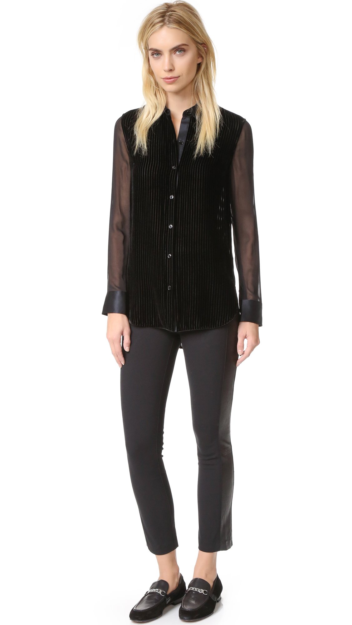Rag Bone Danni Velvet Blouse Shopbop Tendencies Tshirt Great Again Hitam M