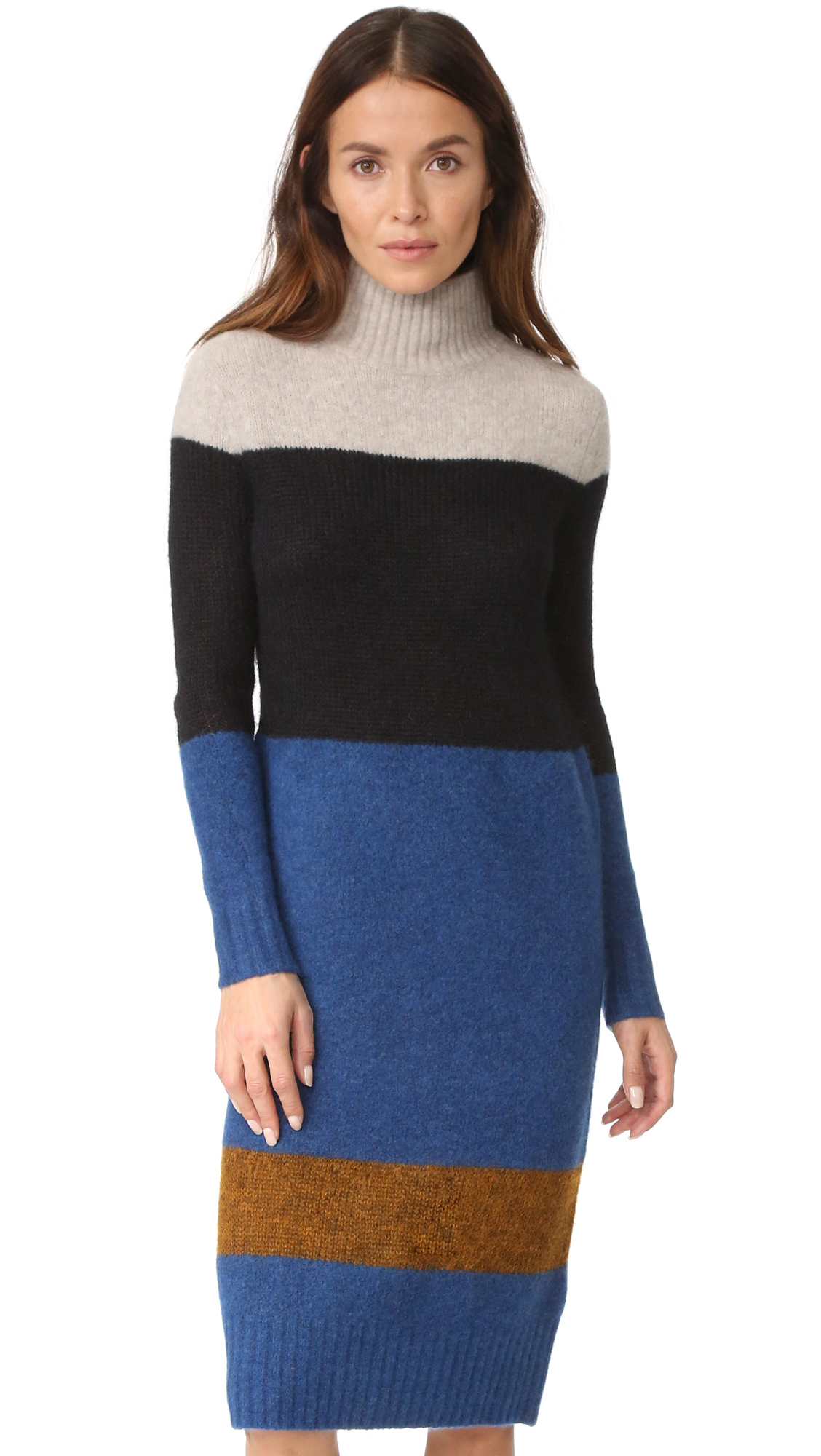 rag bone female rag bone britton sweater dress ash