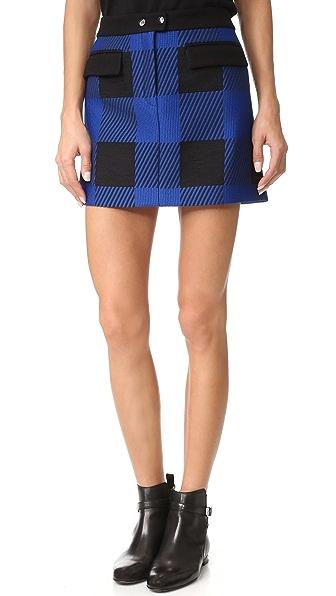 Rag & Bone Cybil Skirt - Blue Buffalo Plaid
