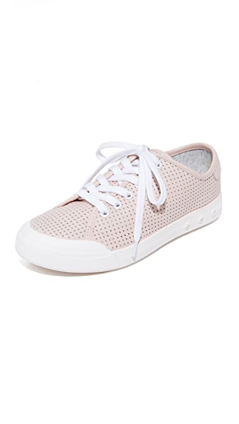 Rag & Bone Standard Issue Perforated Lace Up Sneakers - Pink
