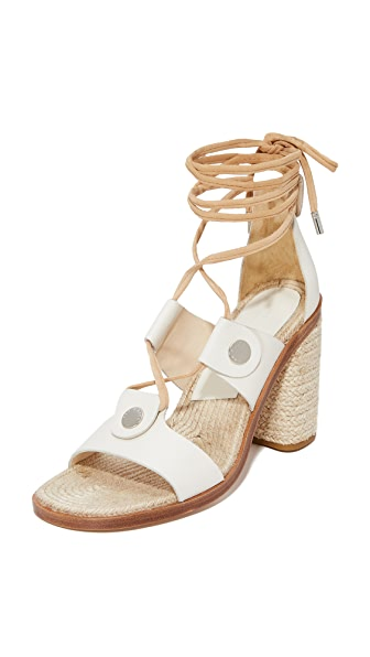 Rag & Bone Eden Lace Up Sandals - Ivory