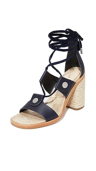 Rag & Bone Eden Lace Up Sandals - Navy