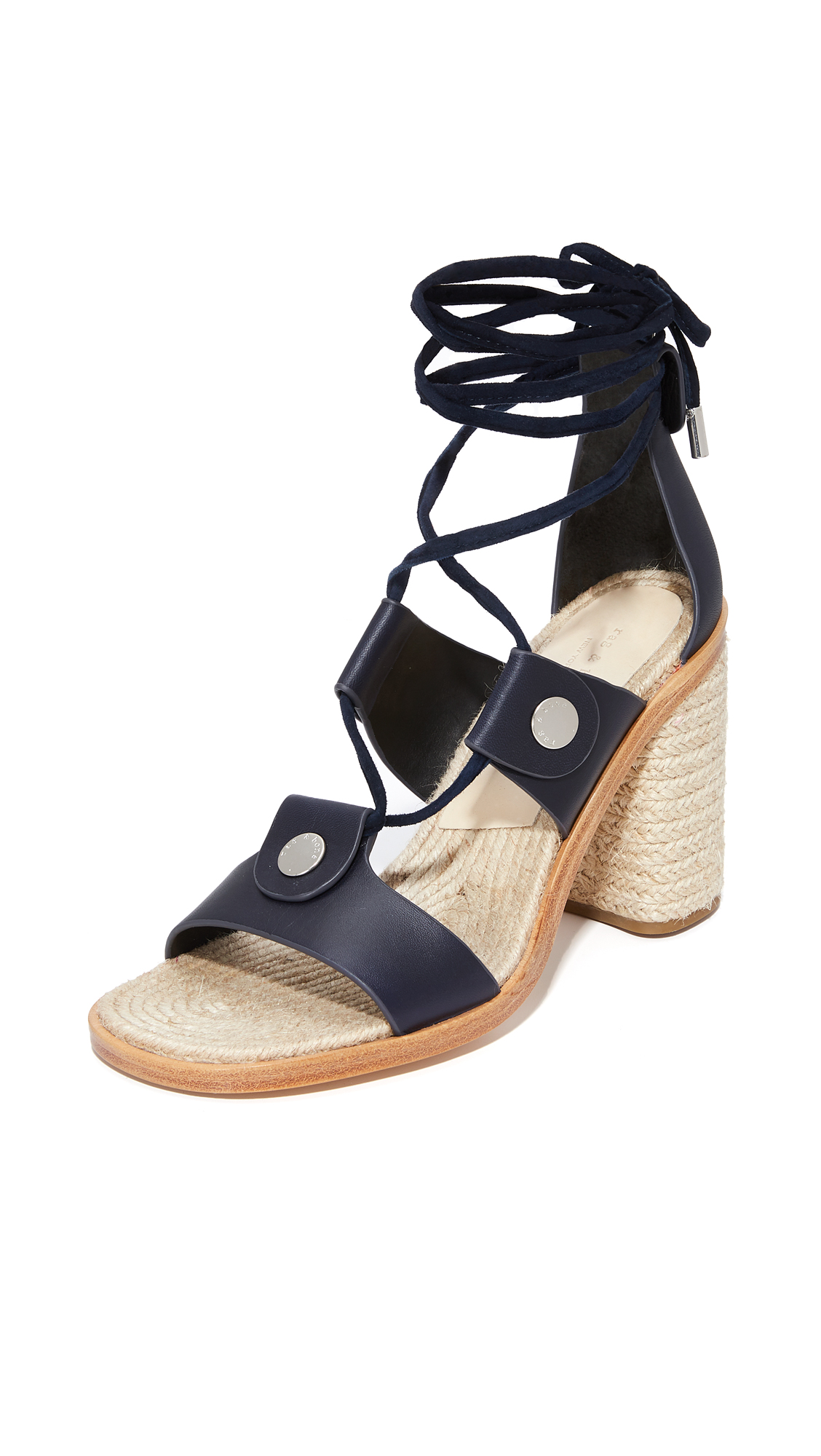 Rag & Bone Eden Lace Up Sandals - Navy