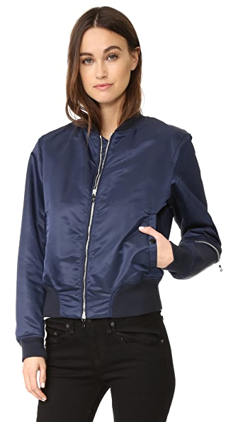 Rag & Bone Morton Bomber Jacket In Navy