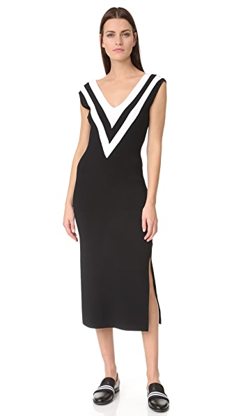 Rag & Bone Daphne Sweater Dress - Black/White