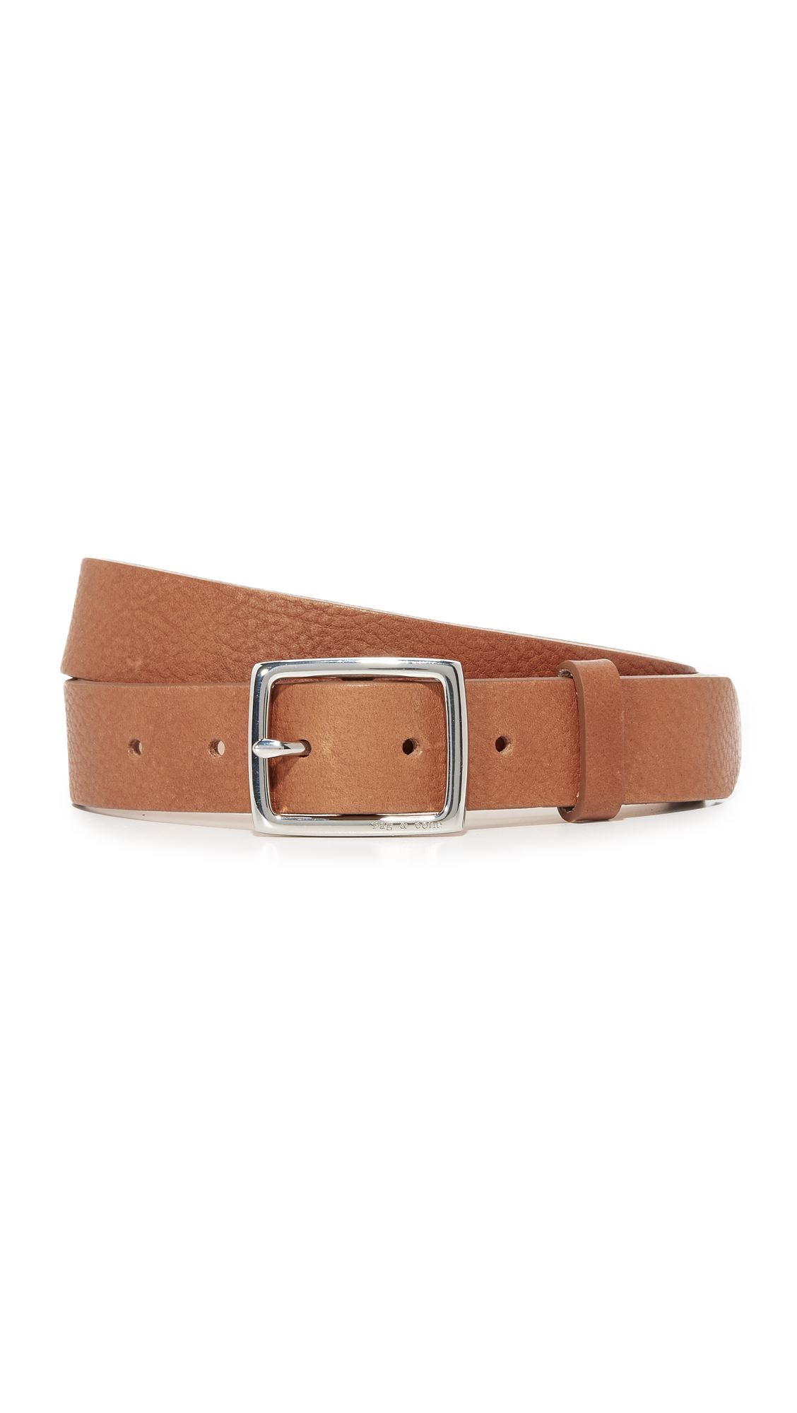 Rag & Bone Boyfriend Belt - Pebbled Tan