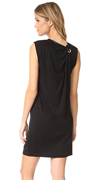Rag & Bone Knotted Dress In Black