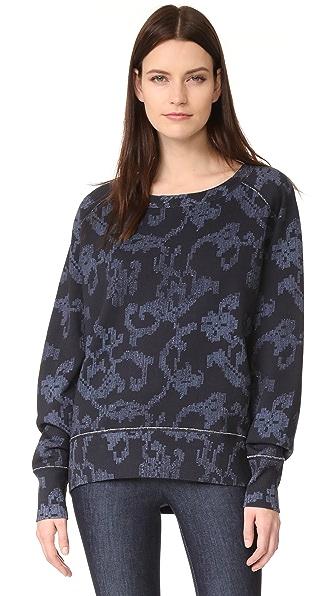 Rag & Bone Max Printed Sweatshirt - Indigo