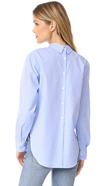 Rag & Bone Calder Top In Baby Blue