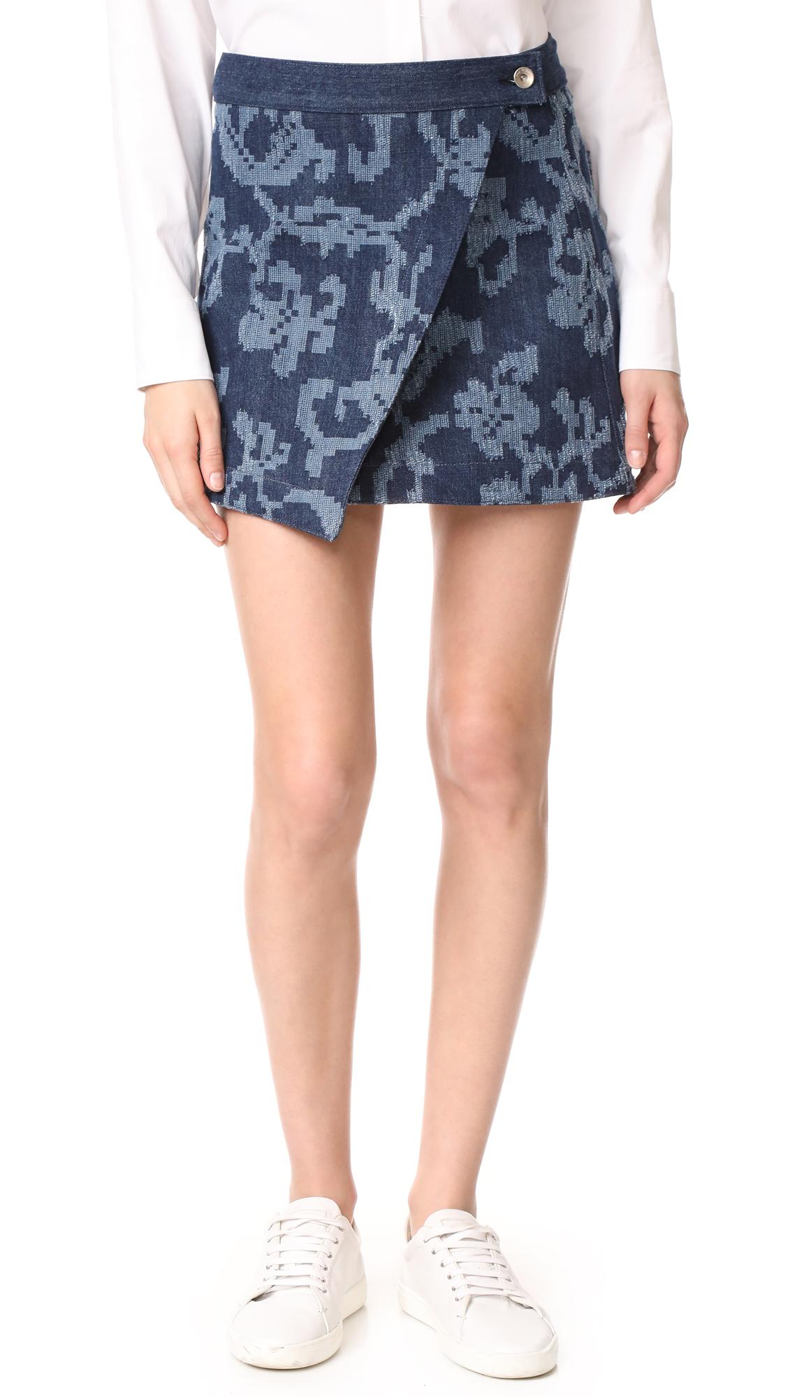 Rag & Bone Marina Jean Skirt - Indigo