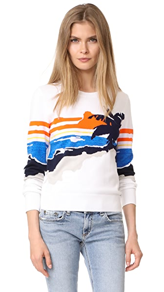 Rag & Bone Nicki Graphic Sweater - White