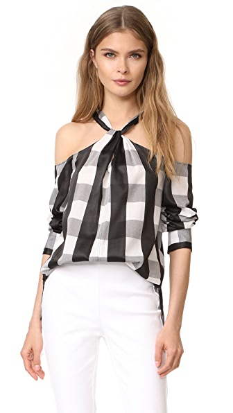 Rag & Bone Colingwood Top - Black/White