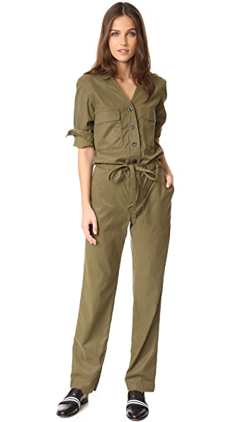Rag & Bone Malvern Jumpsuit In Dark Olive