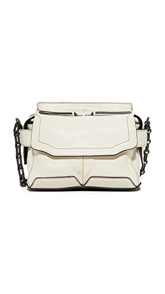 Rag & Bone Micro Pilot Satchel - White/Black