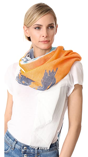 Rag & Bone Striped Sunset Scarf - White Multi