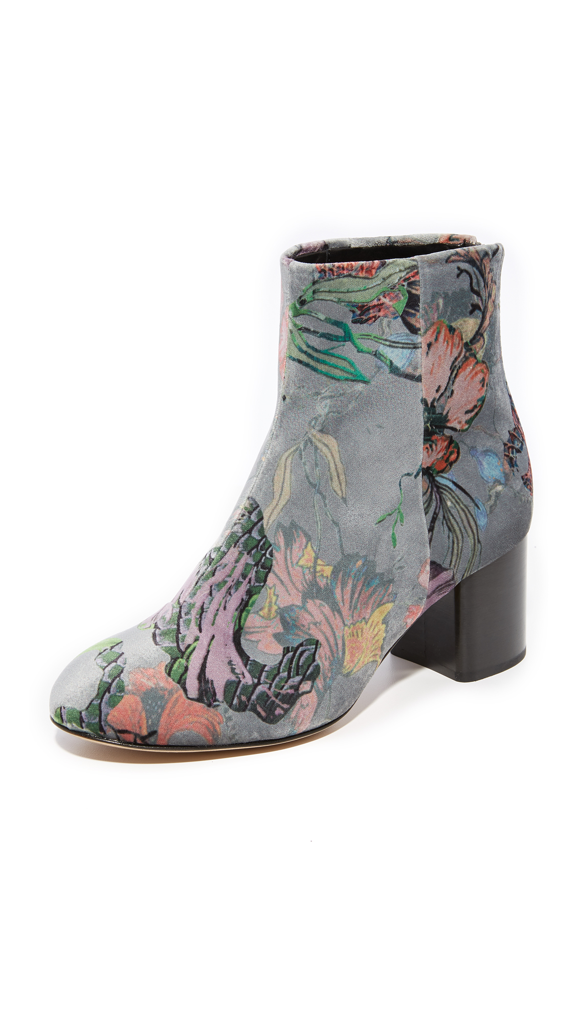 Rag & Bone Drea Booties - Grey Floral