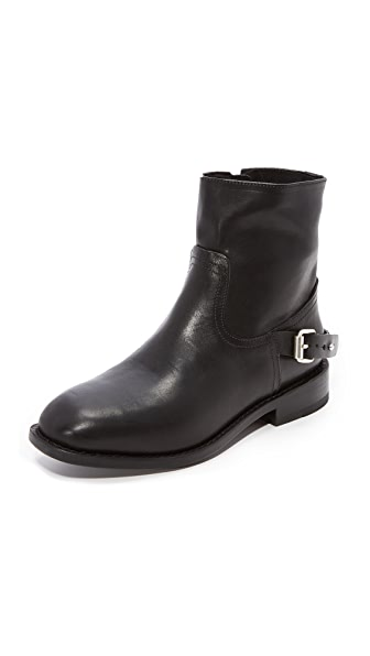 Rag & Bone Oliver Zip Moto Booties - Black