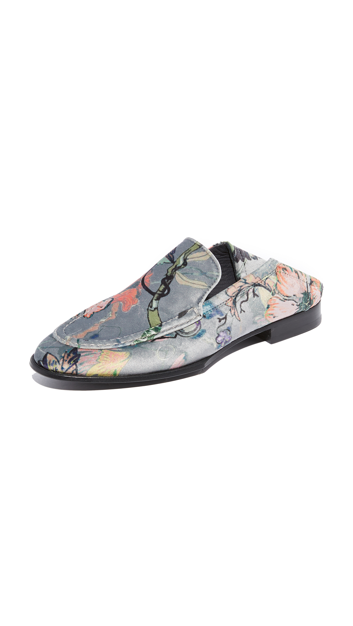 Rag & Bone Alix Convertible Loafers - Grey Floral