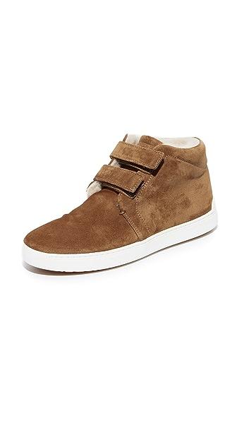 Rag & Bone Kent Desert Shearling Sneakers - Camel