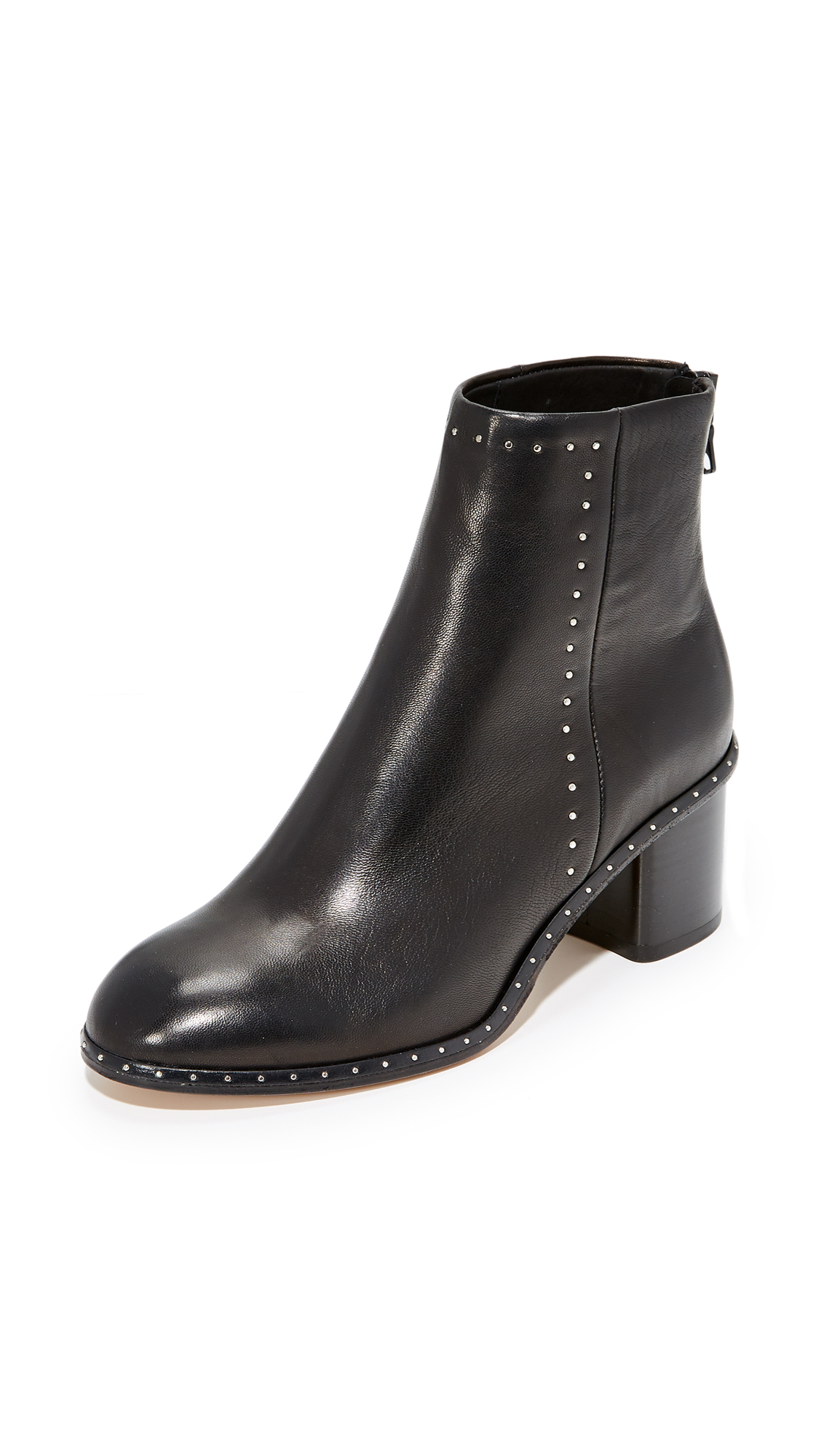 Rag & Bone Willow Stud Booties - Black