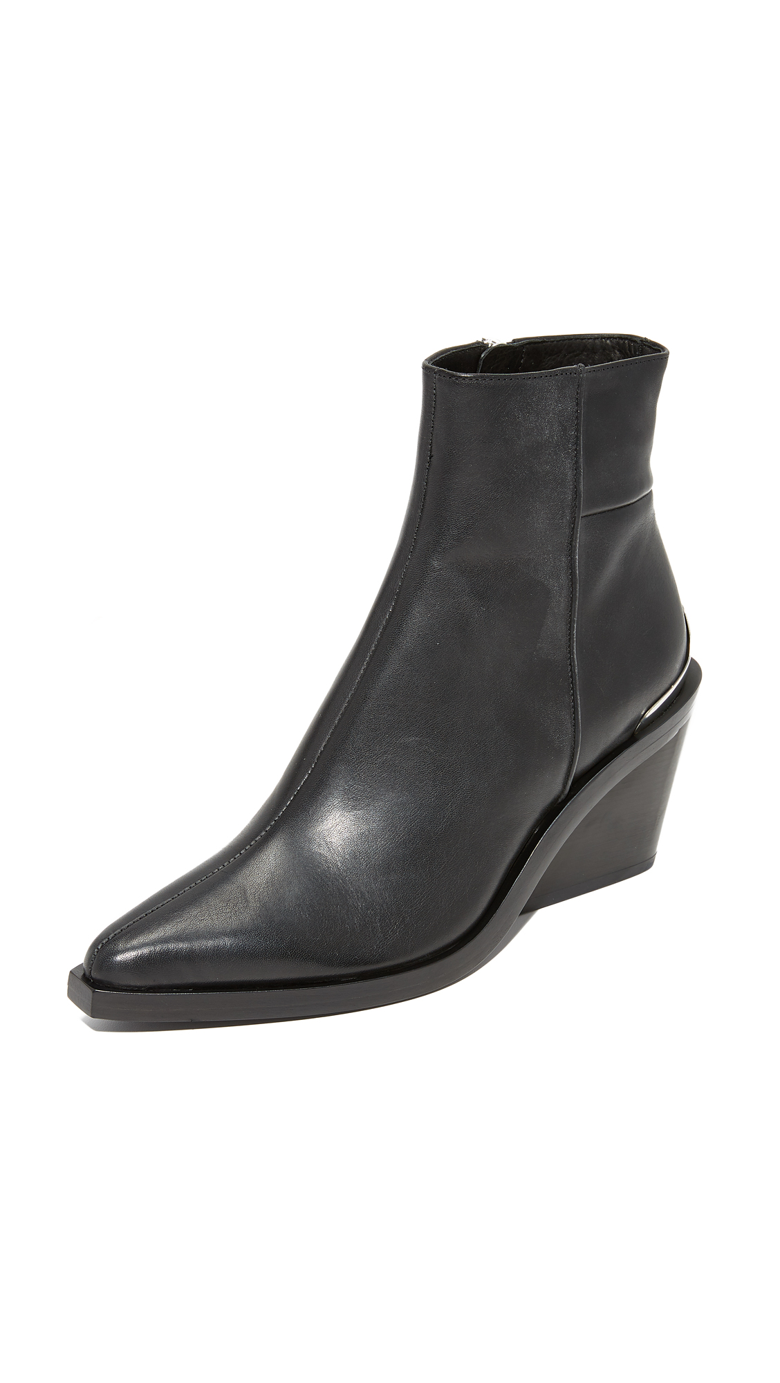 Rag & Bone Santiago Wedge Booties - Black