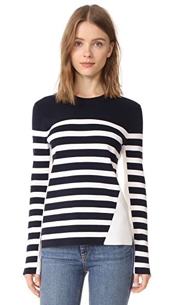 Rag & Bone Cecille Stripe Pullover - Navy