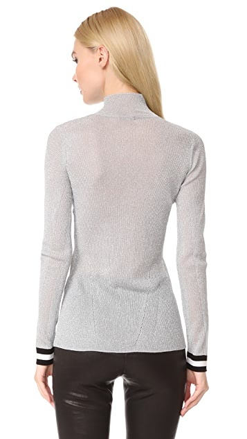 Rag & Bone Priya Lurex Turtleneck