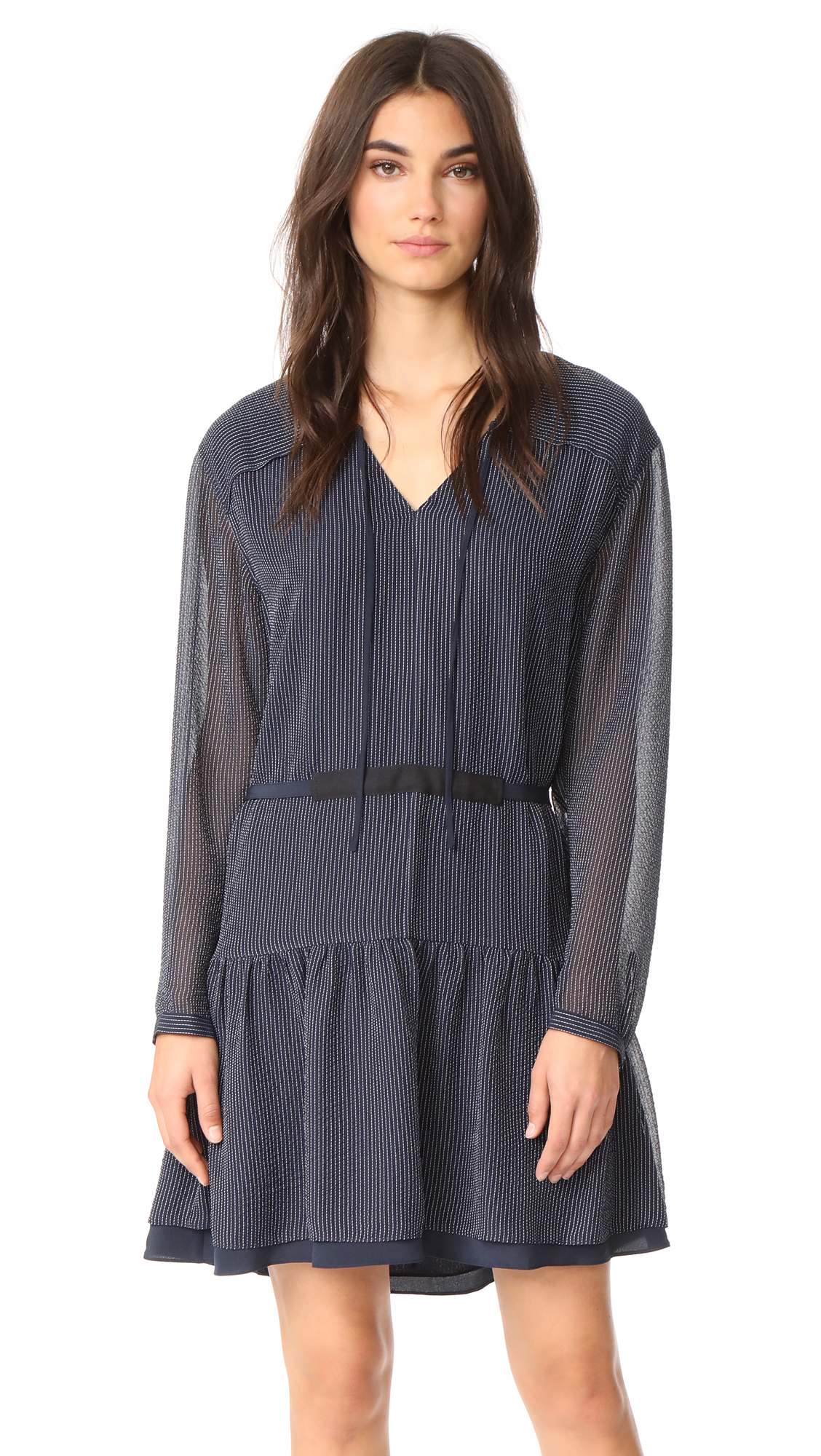 Rag & Bone Blake Long Sleeve Dress - Deep Sapphire