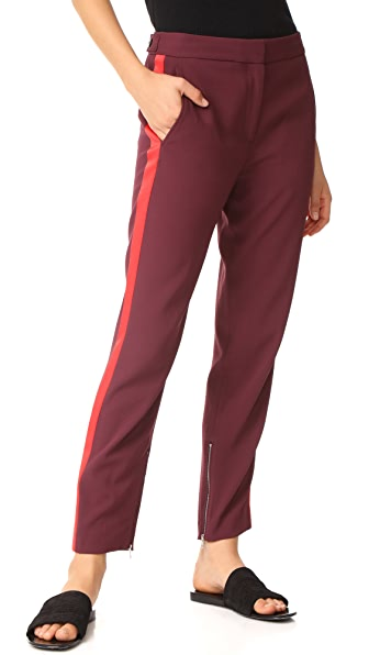 Rag & Bone Willoughby Pants - Burgundy