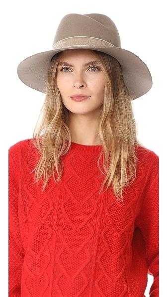 Rag & Bone Zoe Fedora Hat - Taupe