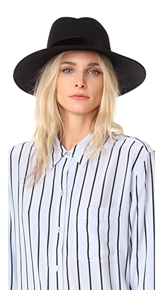 Rag & Bone Zoe Fedora Hat - Black