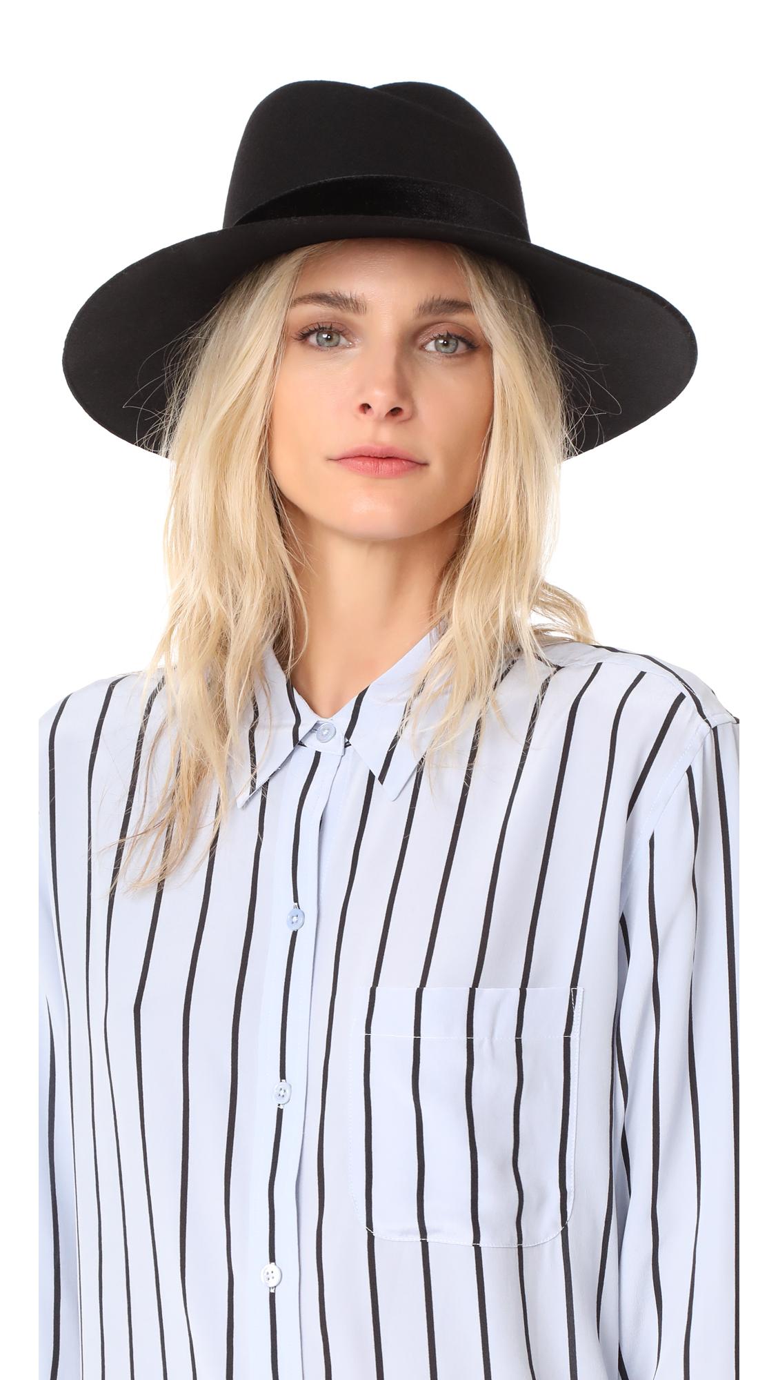 Rag & Bone Zoe Fedora Hat - Black