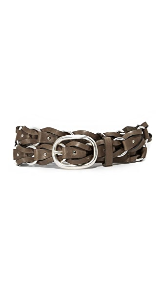 Rag & Bone Mason Woven Belt In Militaire