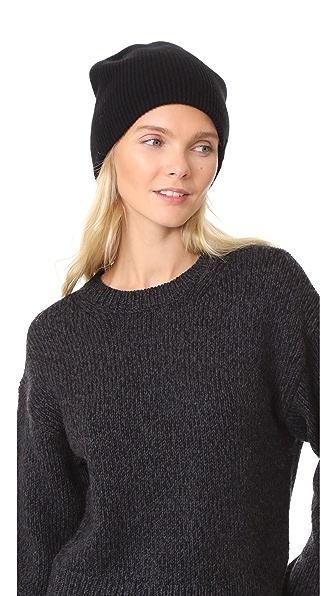 Rag & Bone Reversible Beanie Hat In Black