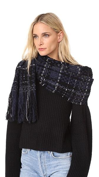 Rag & Bone Linton Tweed Scarf - Blue