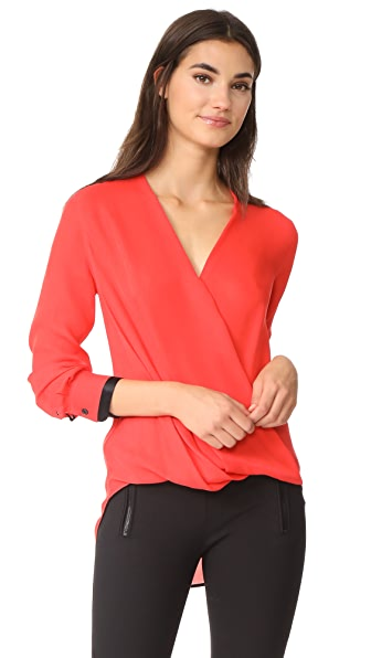 Rag & Bone Victor Blouse - Royal Red