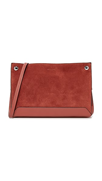 Rag & Bone Compass Cross Body Bag - Rust