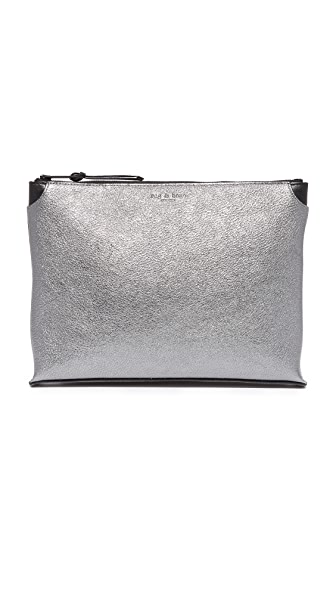 Rag & Bone Medium Pouch - Gunmetal