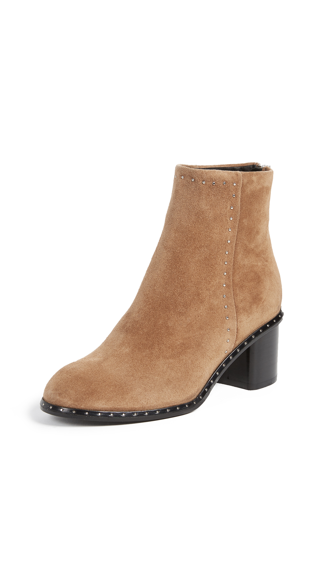 Rag & Bone Willow Stud Booties - Camel