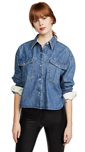 Rag & Bone Cropped Mason Chambray Shirt at Shopbop