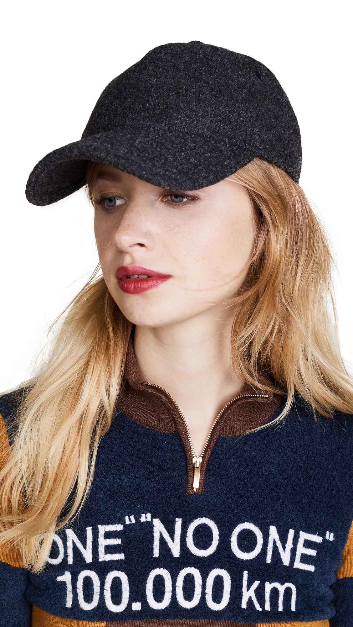 Rag & Bone Marilyn Baseball Cap - Charcoal